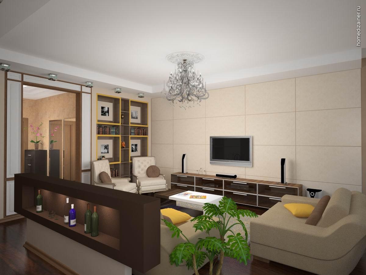 Дизайн квартиры Дизайн комнаты студия